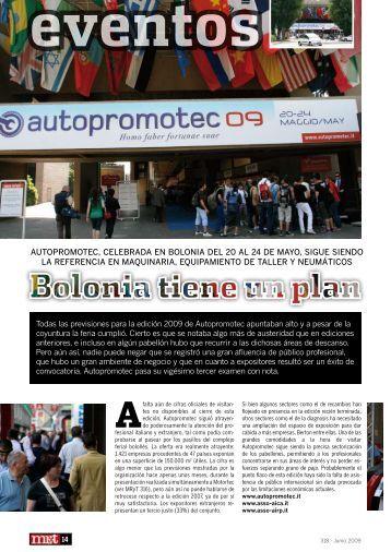 Autopromotec, celebrAdA en boloniA del 20 Al 24 de mAyo, sigue ...