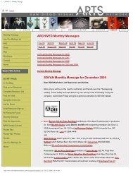 Archived Monthly Messages for 2009 - San Diego Visual Arts Network