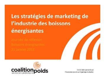 Les stratégies marketing de l'industrie des boissons énergisantes