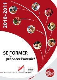 SE FORMER - Chambre de Métiers et de l'Artisanat de la Savoie