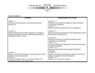 NIVEL SEGUNDO LOGROS INDICADORES DE LOGRO L-ESP 1.1 ...