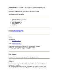 TRADICIONES Y CULTURAS ARGENTINAS / Argentinean Culture ...