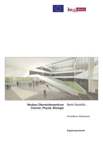 Neubau Oberstufenzentrum Chemie, Physik, Biologie