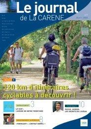 120 km d'itinéraires cyclables à découvrir - La Carène