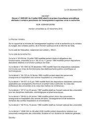 Le 20 décembre 2012 DECRET Décret n° 2009 ... - Université Paris 8