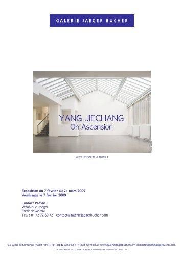 YANG JIECHANG - Galerie Jaeger Bucher