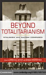 'Beyond Totalitarianism - Stalinism and Nazism Compared'
