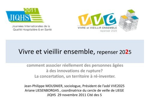 Vivre Et Vieillir Ensemble Repenser 2025 Jiqhs