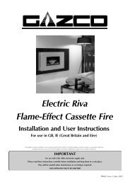 Electric Riva Flame-Effect Cassette Fire - Stokertje