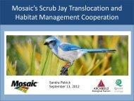 Mosaic's Scrub Jay Translocation and Habitat Management ...