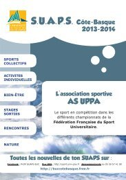 L'association sportive AS UPPA - UFR Pluridisciplinaire de Bayonne