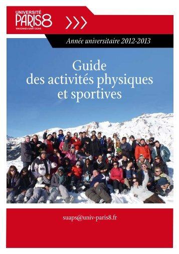 Guide des activités physiques et sportives - Université Paris 8