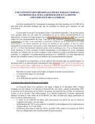 presentation et analyse du protocole sur la democratie et la bonne ...