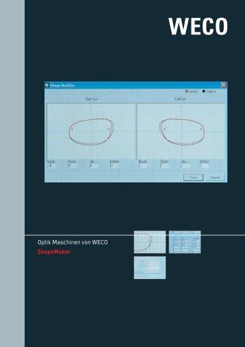 Optik Maschinen von WECO ShapeMaker - Weco-optik.com