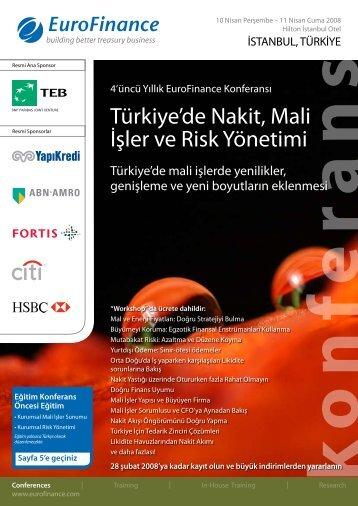 Türkiye'de Nakit, Mali İşler ve Risk Yönetimi - Teb.com