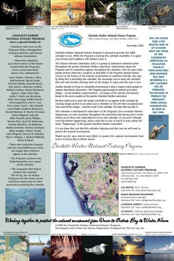 2006 calendar - Charlotte Harbor National Estuary Program
