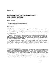 laporan audi tor atas laporan keuangan audi tan - Member of ...