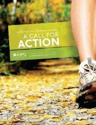A CALL FOR - Association pour la santé publique du Québec