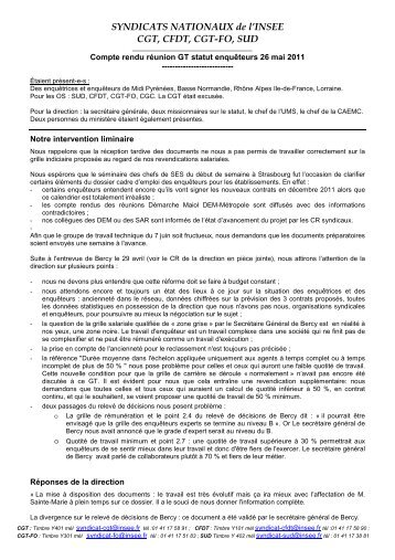CR GT statut enqueteurs 26 mai 2011 - cgt-insee