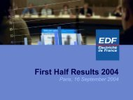 Half-year Results EDF Group 2004 - Shareholders and investors