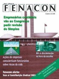 Ano V - Edição 58 Outubro de 2000 - Fenacon
