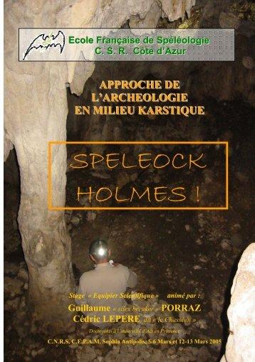 SPELEOCK HOLMES ! - Comité Départemental de Spéléologie des ...