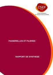 voir actions filières et passerelles - CSEF Mons