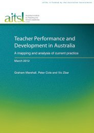 Teacher Performance and Development in Australia - Australian ...