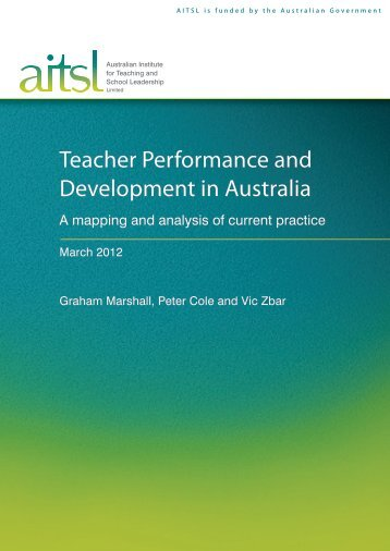 Teacher Performance and Development in Australia - Australian ...