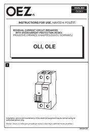 Prúdový chránič s nadprúdovou ochranou - OLI, OLE - OEZ