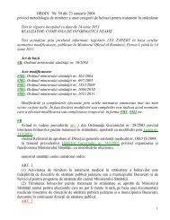 ORDIN Nr 50 din 2004 metodologie de trimitere a unor categorii de ...