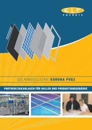 SOLARMODULSERIE KORONA PVQ3 - ELF Energie