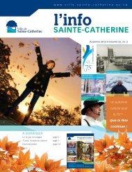 Info automne 2012 - Ville de Sainte-Catherine