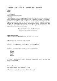 CERTAMENLATINUM - školní kolo 2010 - kategorie A Nomen - NIDM