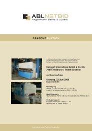 Kenngott International GmbH & Co. KG 74076 Heilbronn ... - NetBid