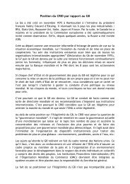 Position du CRID par rapport au G8