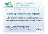 Gestion participative par objectifs - JIQHS