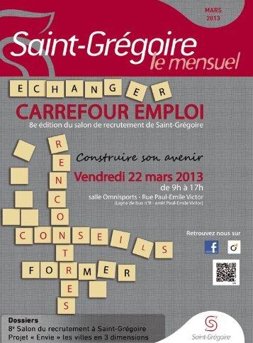 Saint-Grégoire, le Mensuel Mars 2013