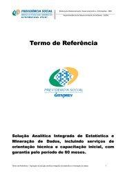 TR ANÁLISE/MINERAÇÃO DE DADOS - Dataprev