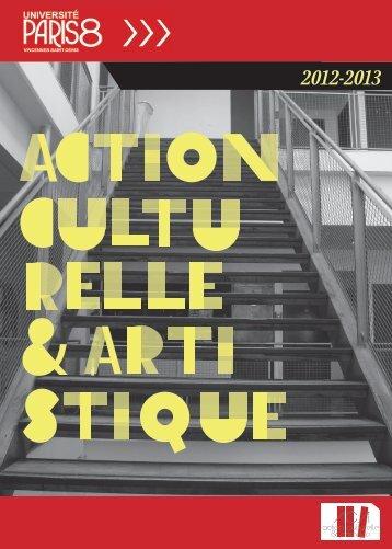 action culturelle & artistique - Université Paris 8