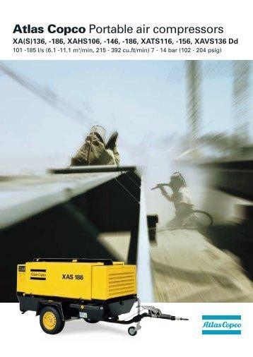 Atlas Copco Portable air compressors - Acw.ir