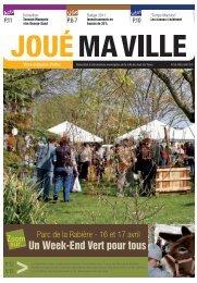 Un Week-End Vert pour tous - Mairie de Joué lès Tours