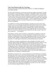 Una Carta Pastoral sobre las Vocaciones - Diocese of Bridgeport