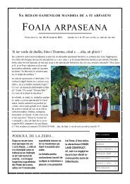 Foaia Arpaseana VOLUMUL 4, NR.69, 15 MARTIE 2011