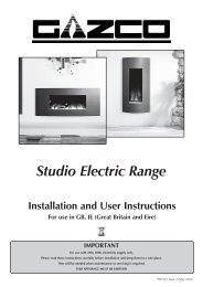 Studio Electric Range - The Fire Basket