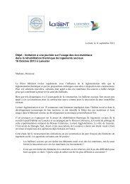 Invitation bailleurs sociaux usage éco matériaux 131016 - Relier