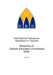 Catholic Education Commission, New South Wales - Australian ...