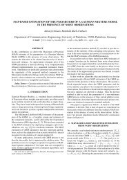 MAP-based Estimation of the Parameters of a Gaussian Mixture ...