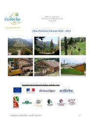 Plan d'actions 2011-13 Charte Forestière