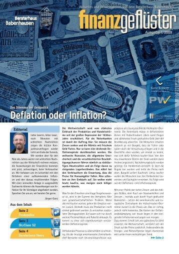 Deflation oder Inflation? - fischer-finance